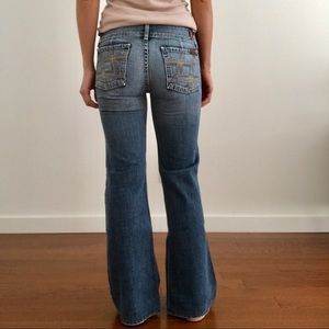 7 For All Mankind Jeans Mojo Rigid Wide Leg 26